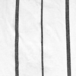 Striped Linen- Black and White