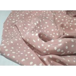 Spotty Print Tencel- Rose...