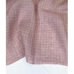 Yarn Dyed Check Linen-Petal