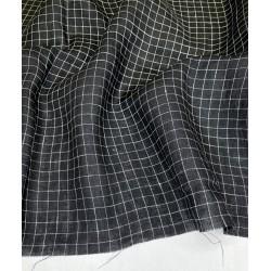 Yarn Dyed Check Linen-Black